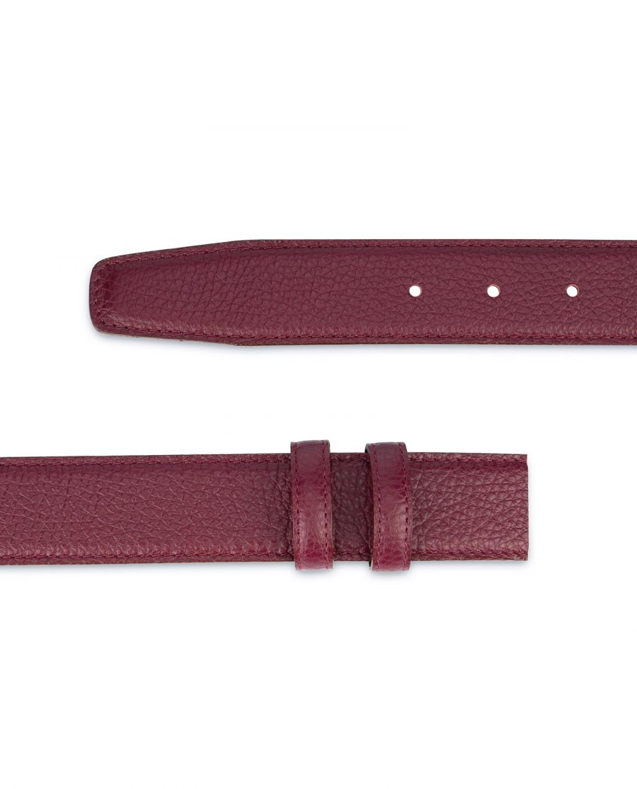 Burgundy Leather Strap for Belt Replacement 2