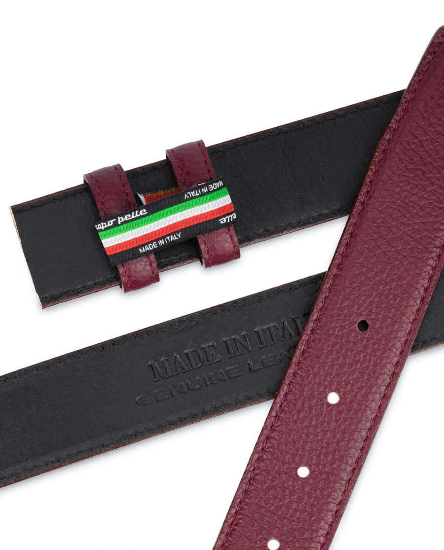 Burgundy Leather Strap for Belt Replacement 3
