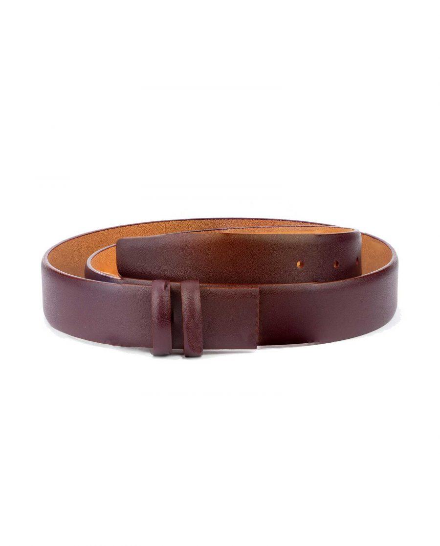Burgundy Replacement Belt Strap Adjustable Mens 1
