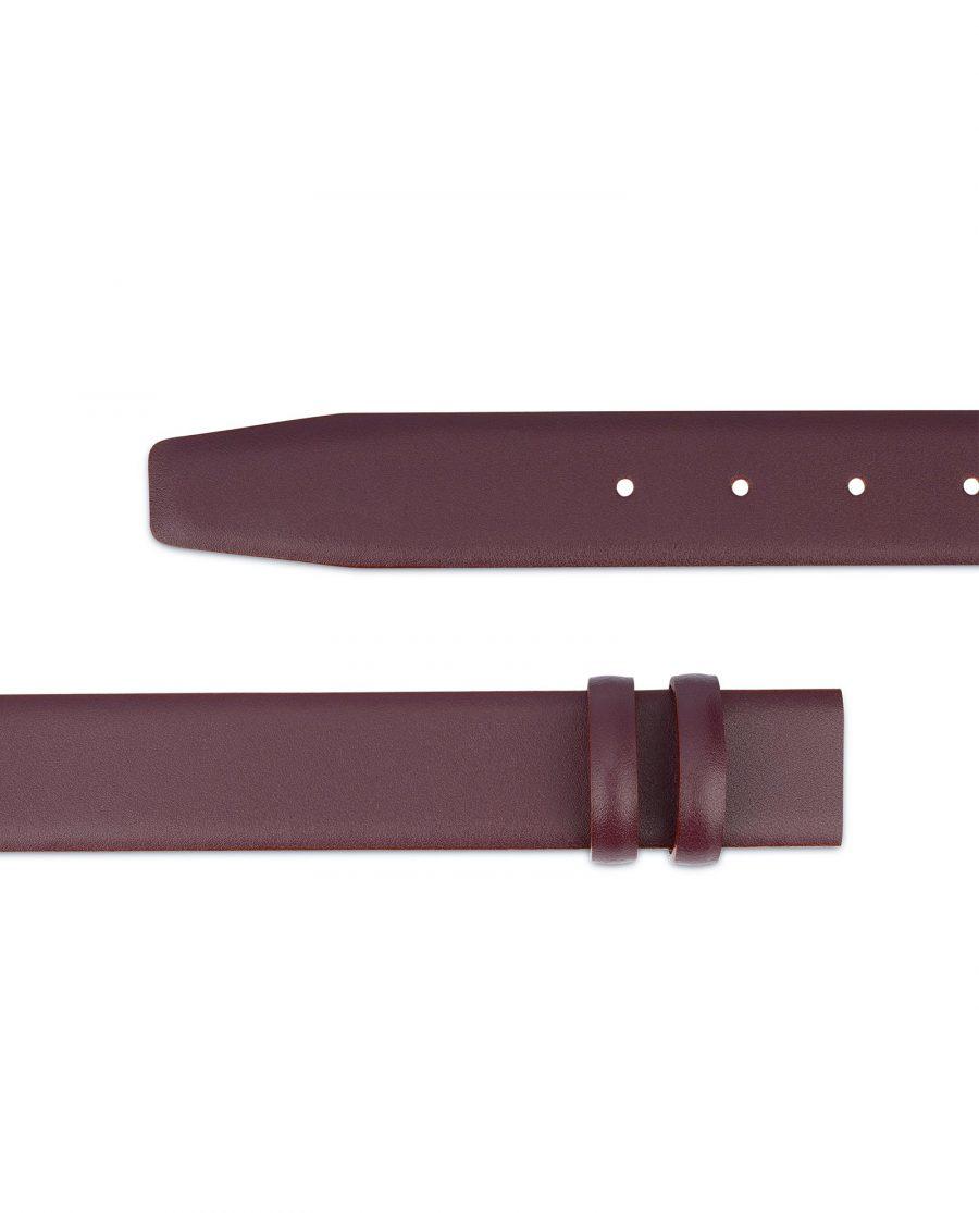 Burgundy Replacement Belt Strap Adjustable Mens 2