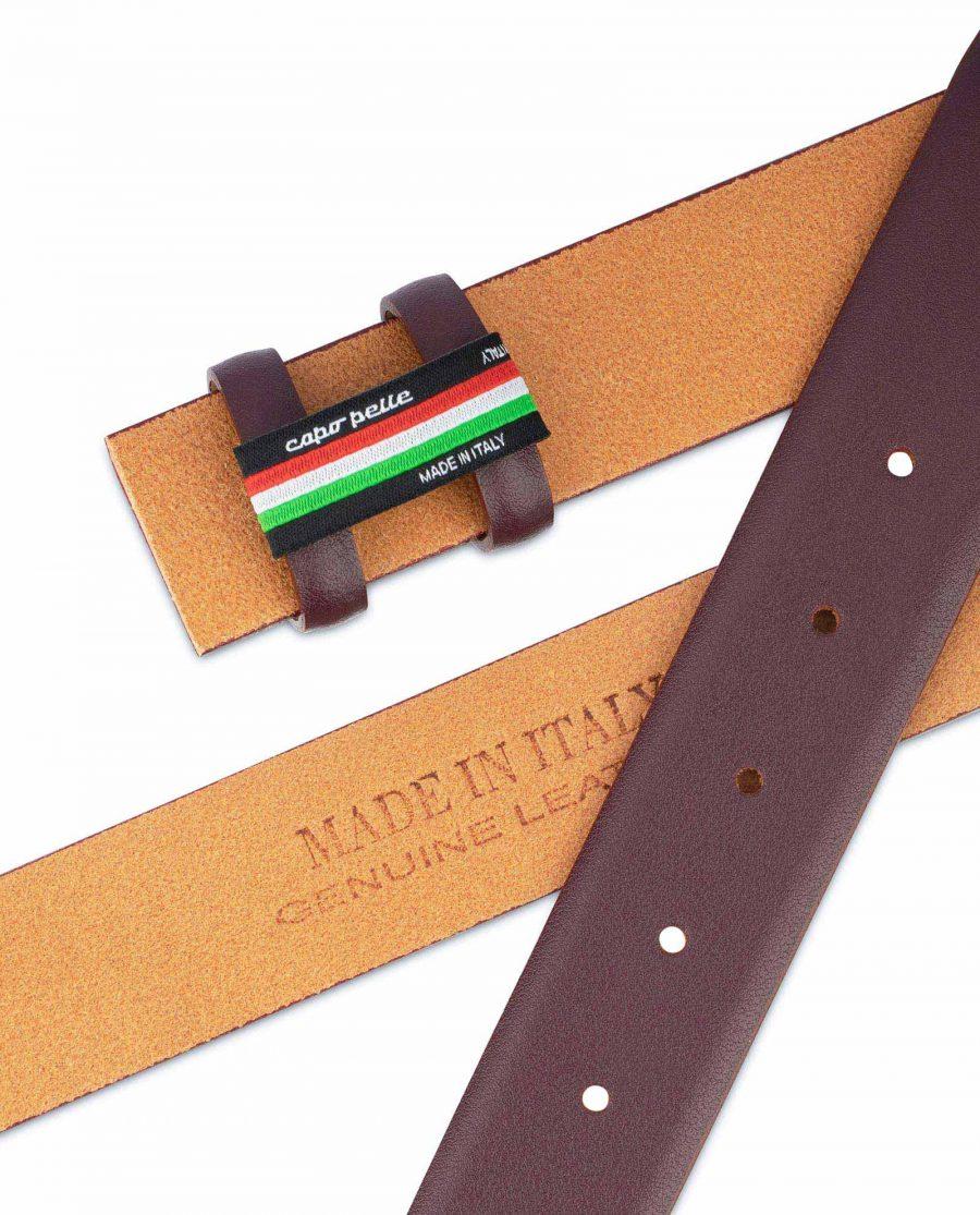 Burgundy Replacement Belt Strap Adjustable Mens 3