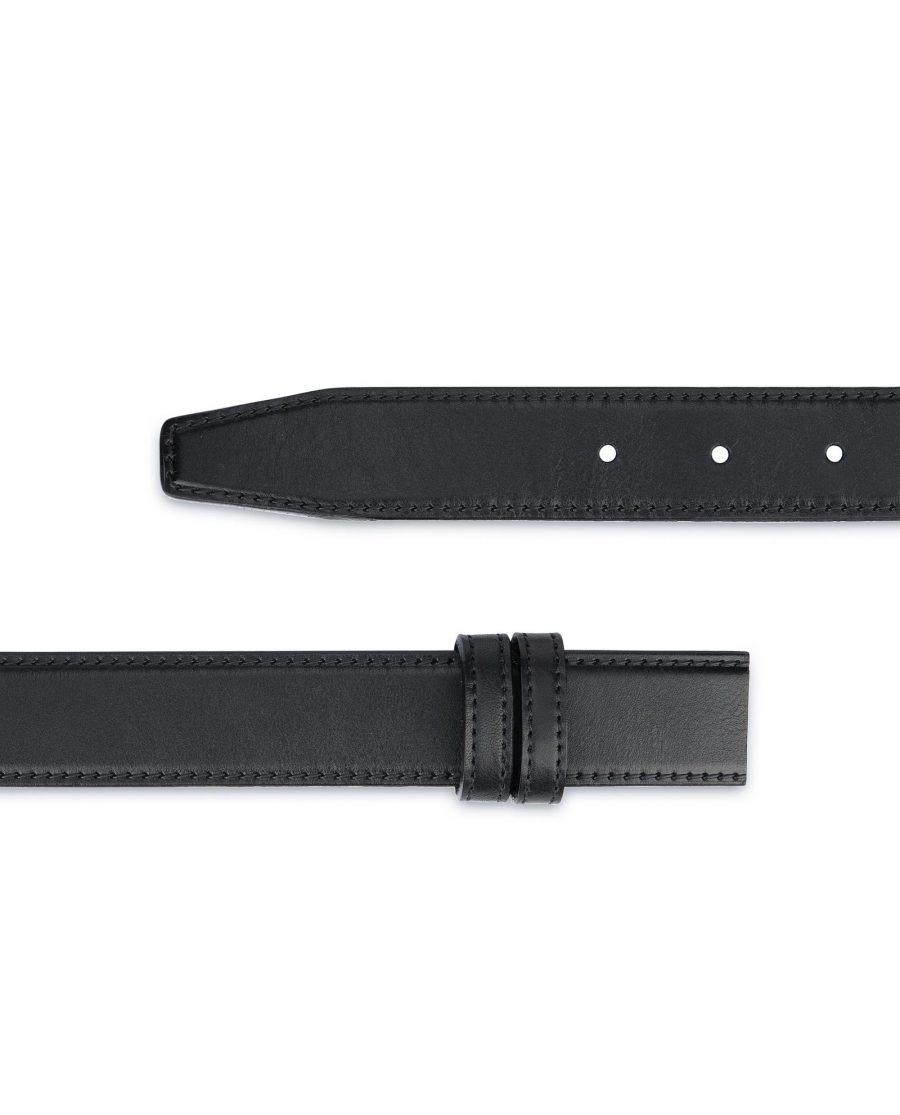 Full Grain Leather Belt Strap Black Adjustable 2