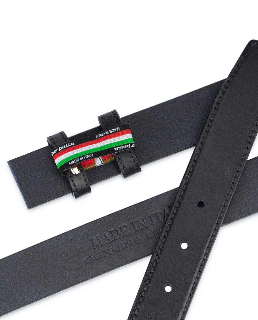 Full Grain Leather Belt Strap Black Adjustable 3