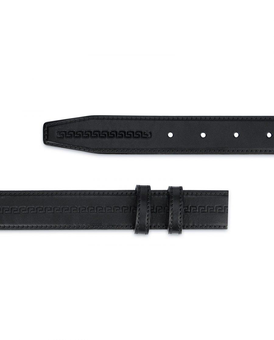 Full Grain Leather Belt Strap no Buckle Embossed 2