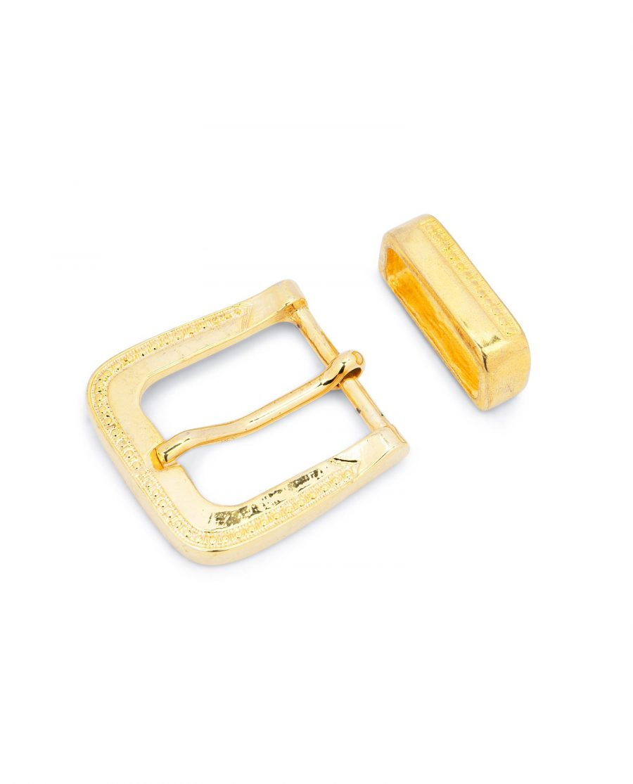 Gold Belt Buckle Mens Western Style 1