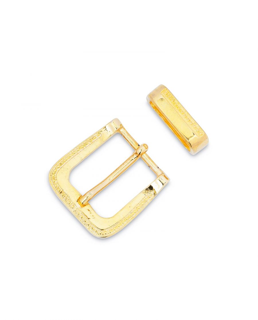 Gold Belt Buckle Mens Western Style 2