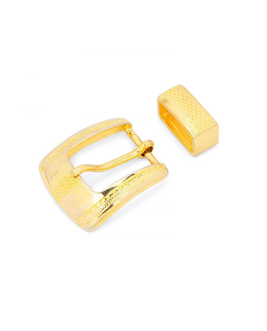 Golden Belt Buckle 1 Inch Wide 1