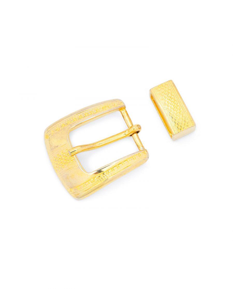Golden Belt Buckle 1 Inch Wide 2