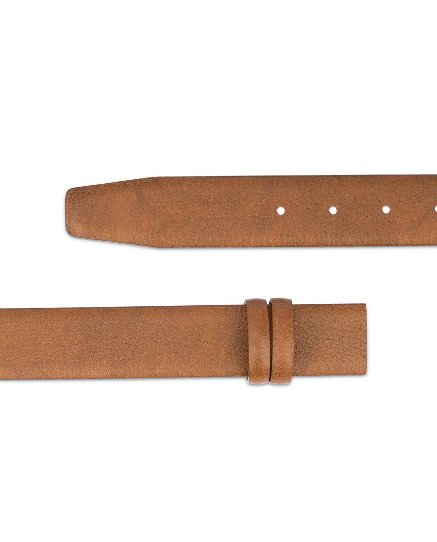 Mens Brown Leather Belt Strap Adjustable 2