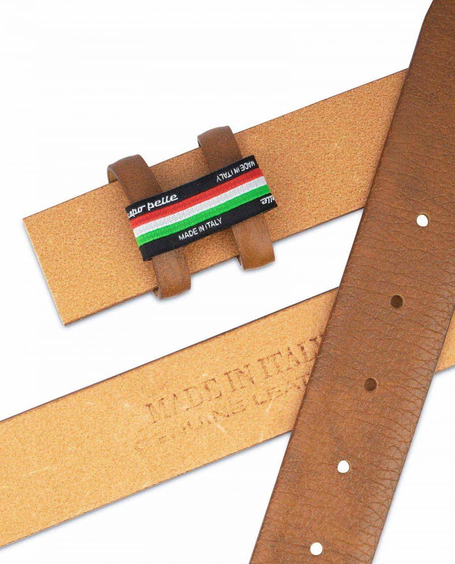 Mens Brown Leather Belt Strap Adjustable 3