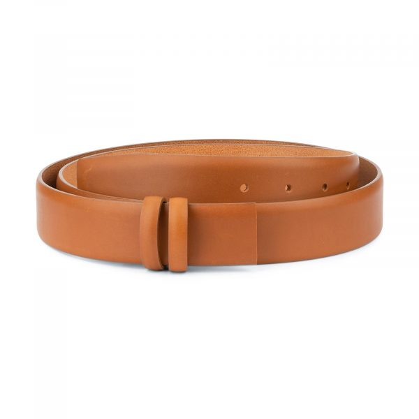 Mens Tan Belt Strap For Buckles Adjustable 1