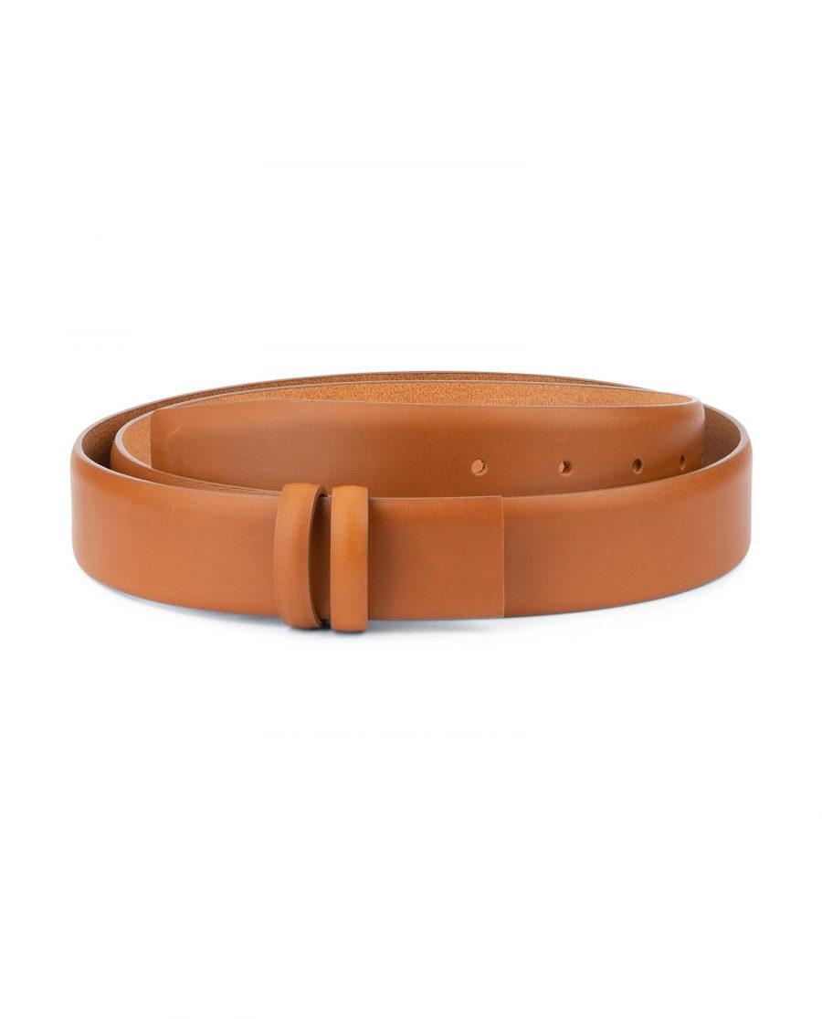 Mens Tan Belt Strap For Buckles Adjustable 1