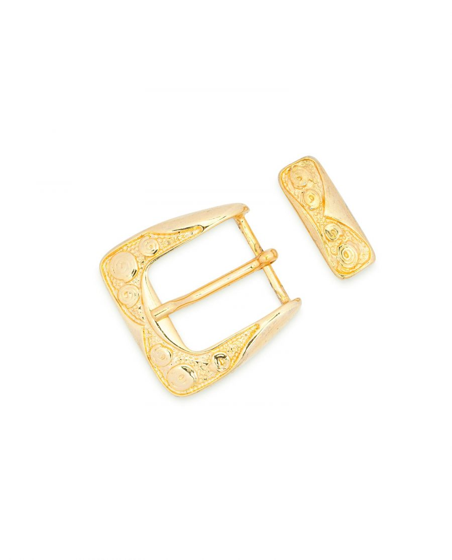 Womens Golden Belt Buckle Made in Italy 2