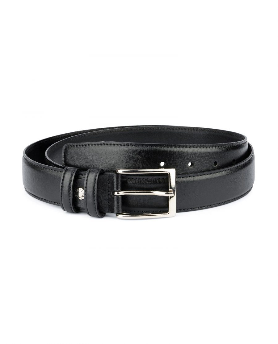 Black Dress Pants Belt for Men Stitched 1