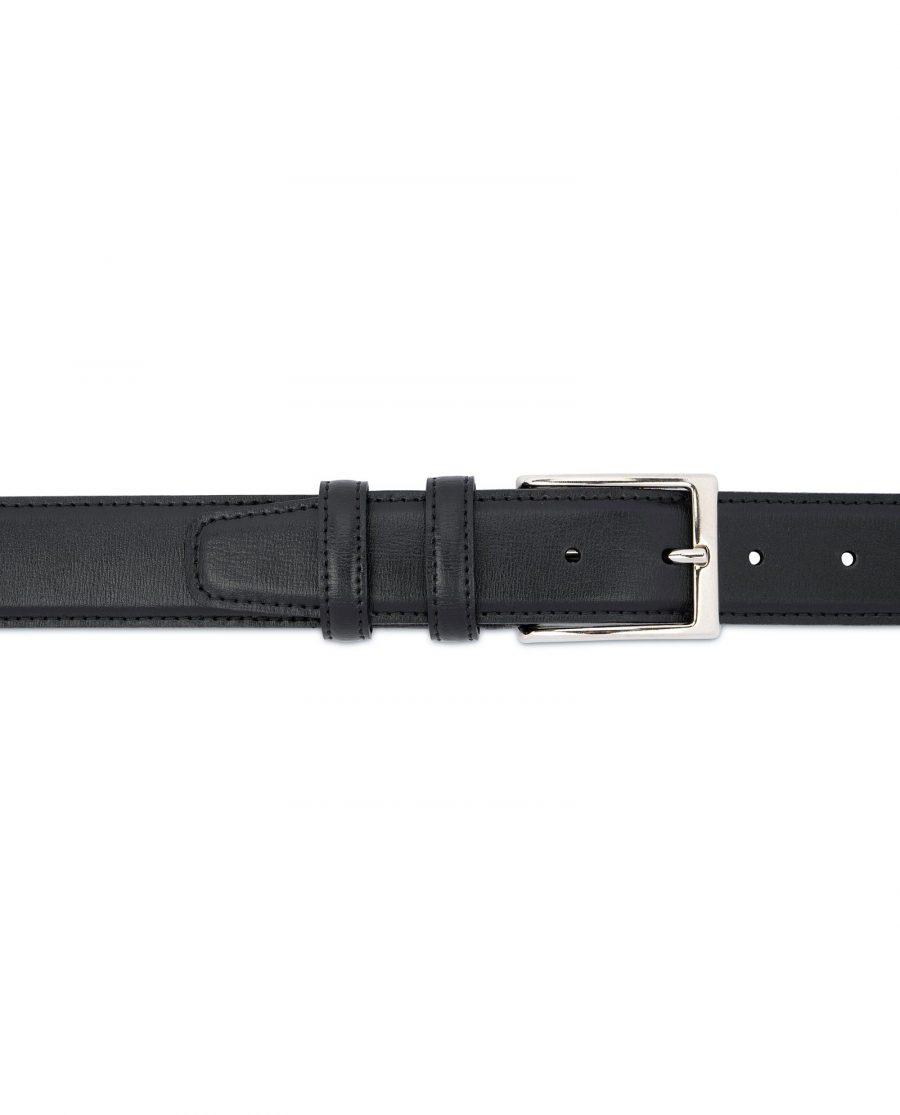 Black Dress Pants Belt for Men Stitched 3