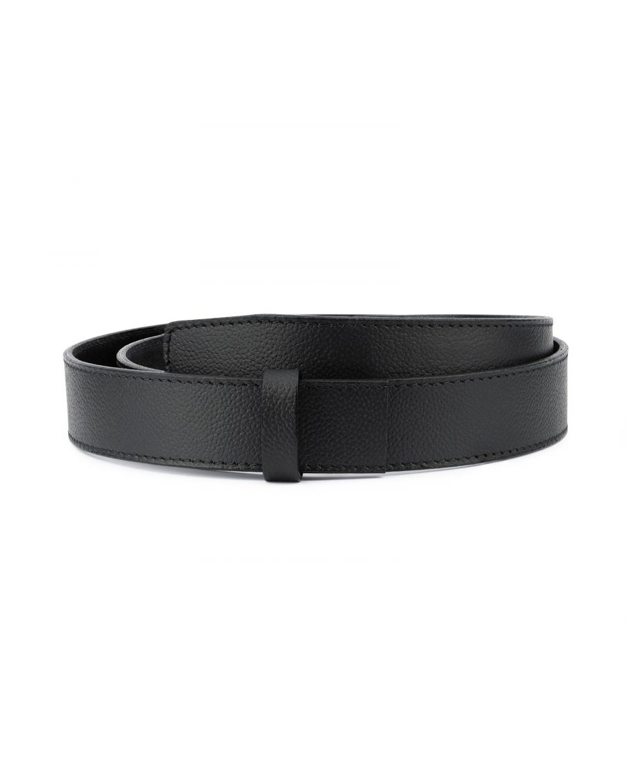 Black Leather Strap for Mens Automatic Belt 1
