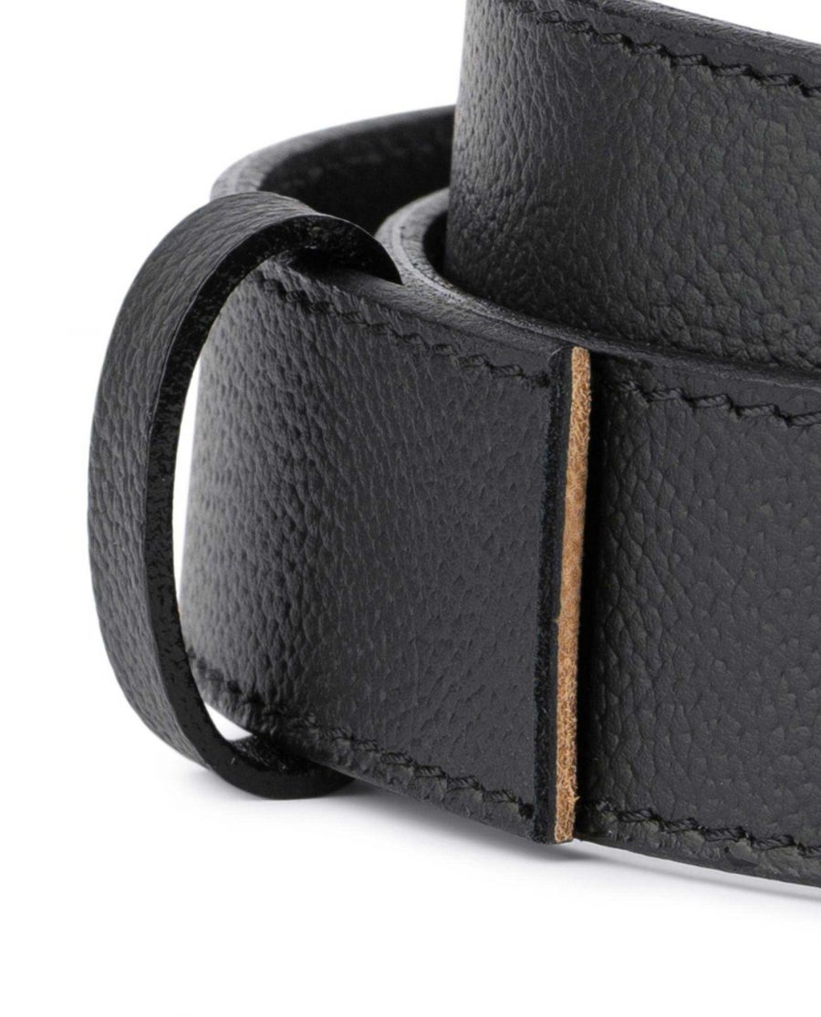 Black Leather Strap for Mens Automatic Belt 2