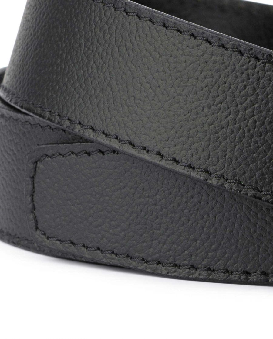 Black Leather Strap for Mens Automatic Belt 4