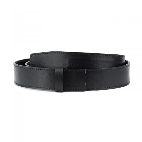 Black Leather Strap for Ratchet Belt 1