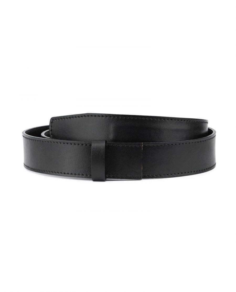 Black Leather Strap for Ratchet Belt 1