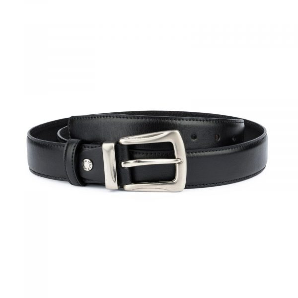 Black Mens Belt With Buckle Western Style 1