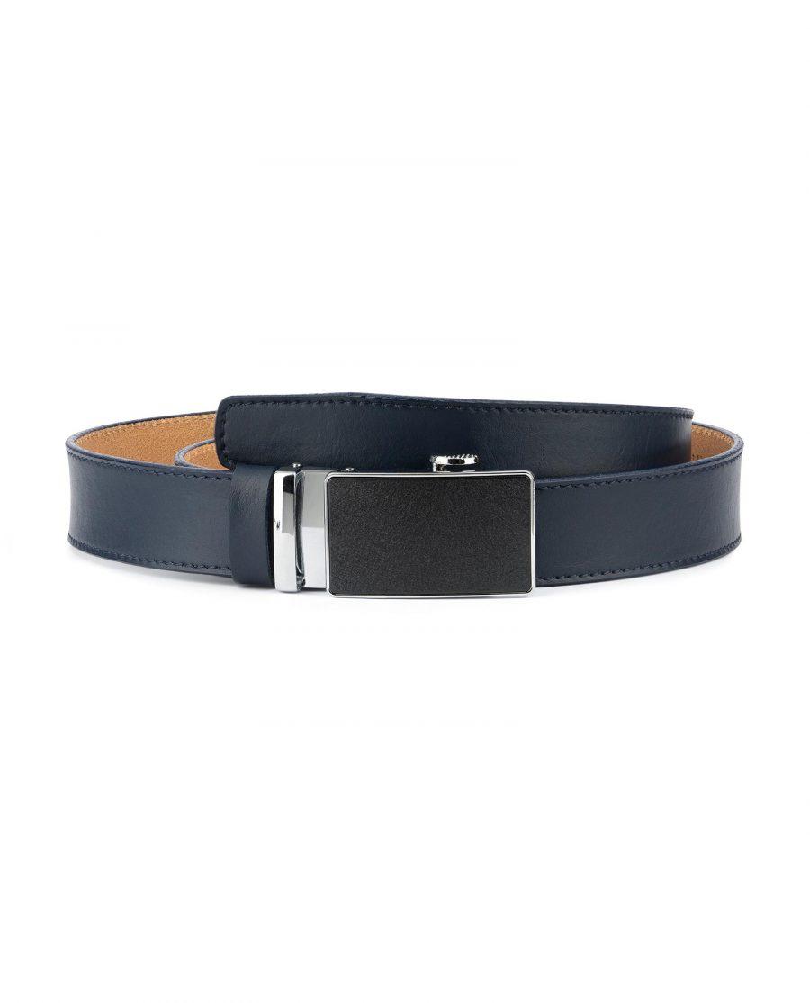 Blue Mens Click Belt with Slide Buckle 1