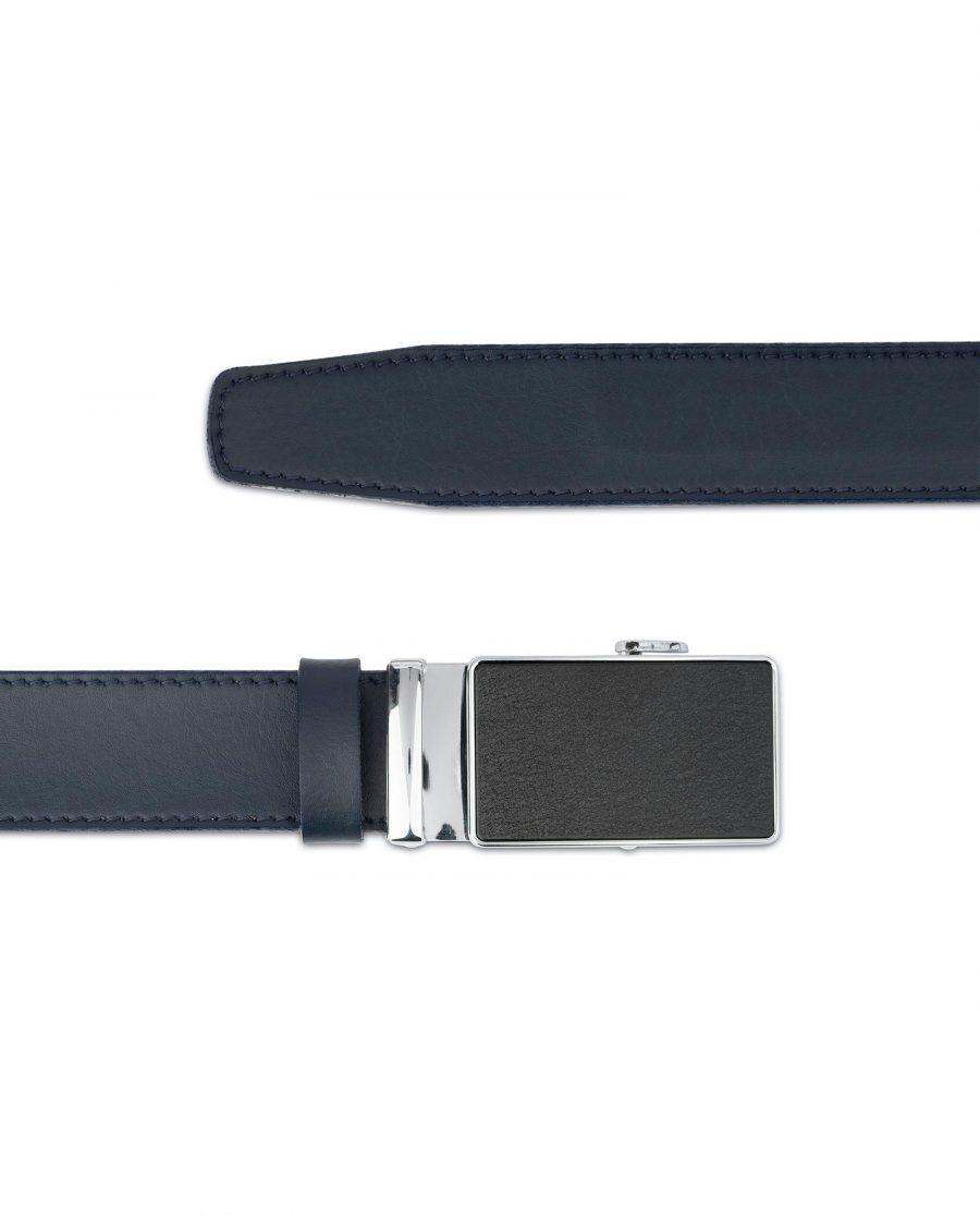Blue Mens Click Belt with Slide Buckle 3