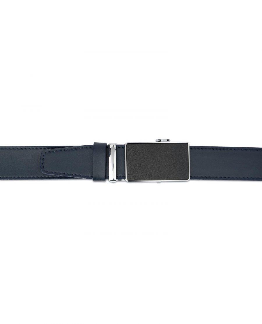 Blue Mens Click Belt with Slide Buckle 4