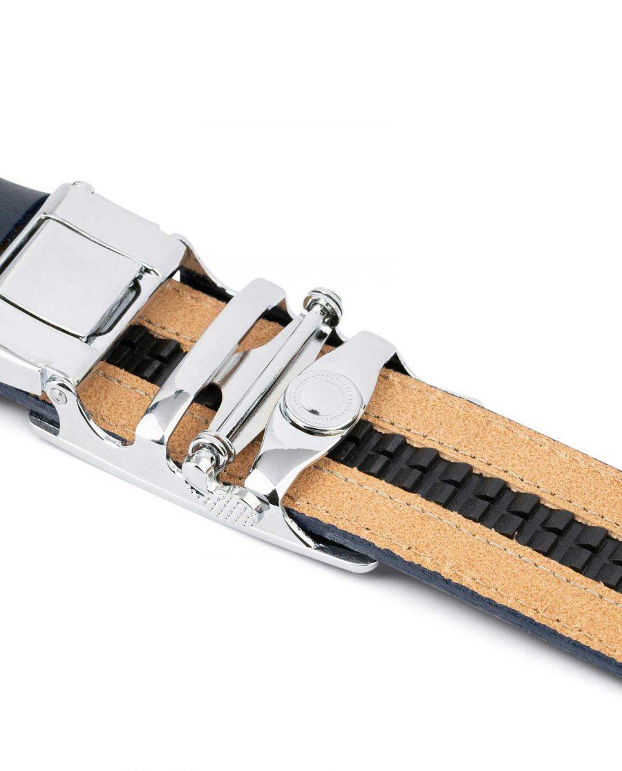 Blue Mens Click Belt with Slide Buckle 5