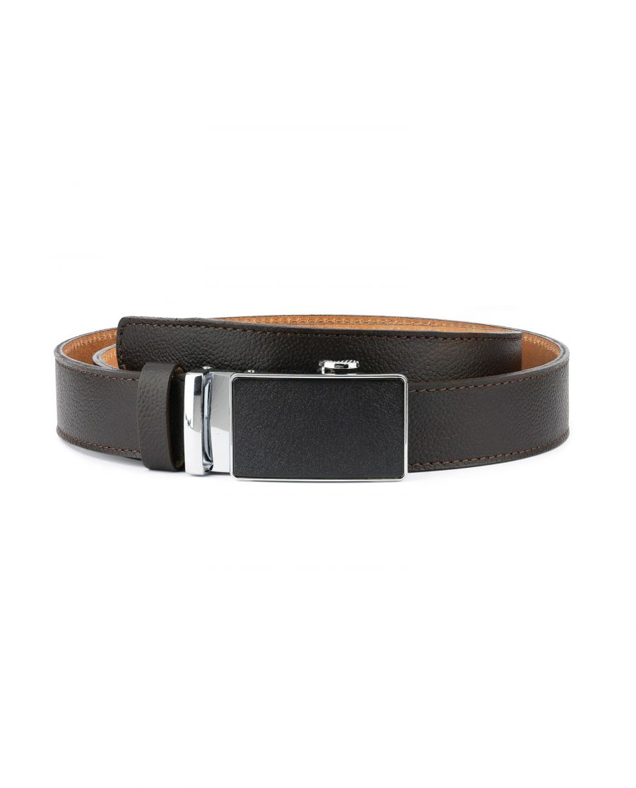 Brown Automatic Buckle Belt for Men 1