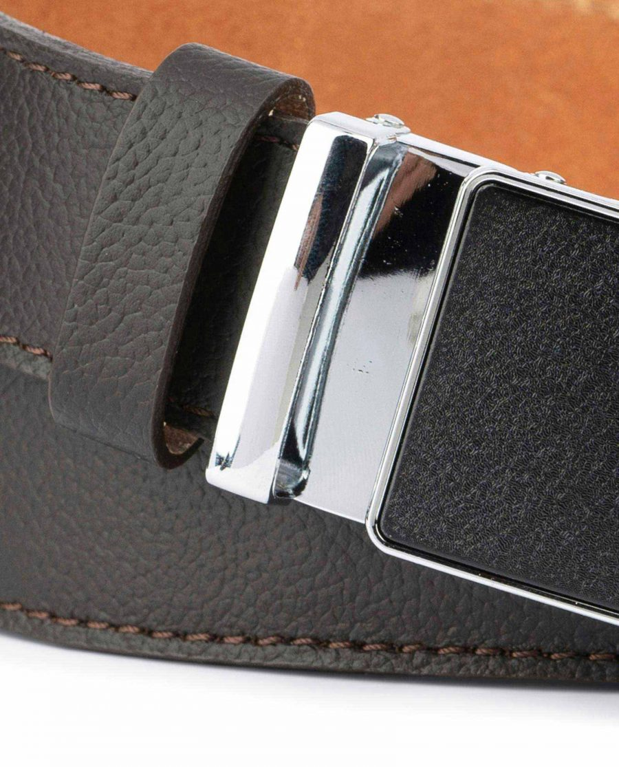 Brown Automatic Buckle Belt for Men 2