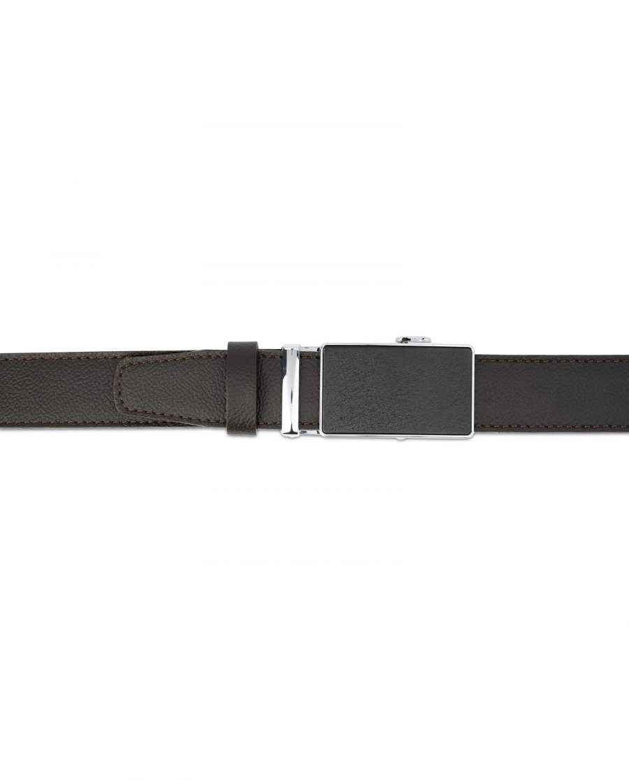 Brown Automatic Buckle Belt for Men 4