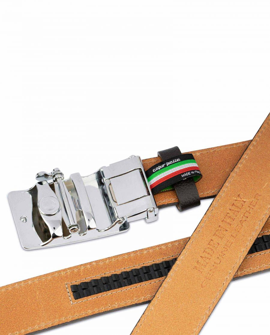 Brown Automatic Buckle Belt for Men 6