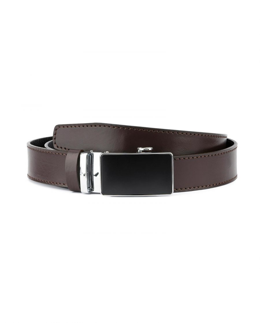 Brown Mens Belt Automatic Buckle 1