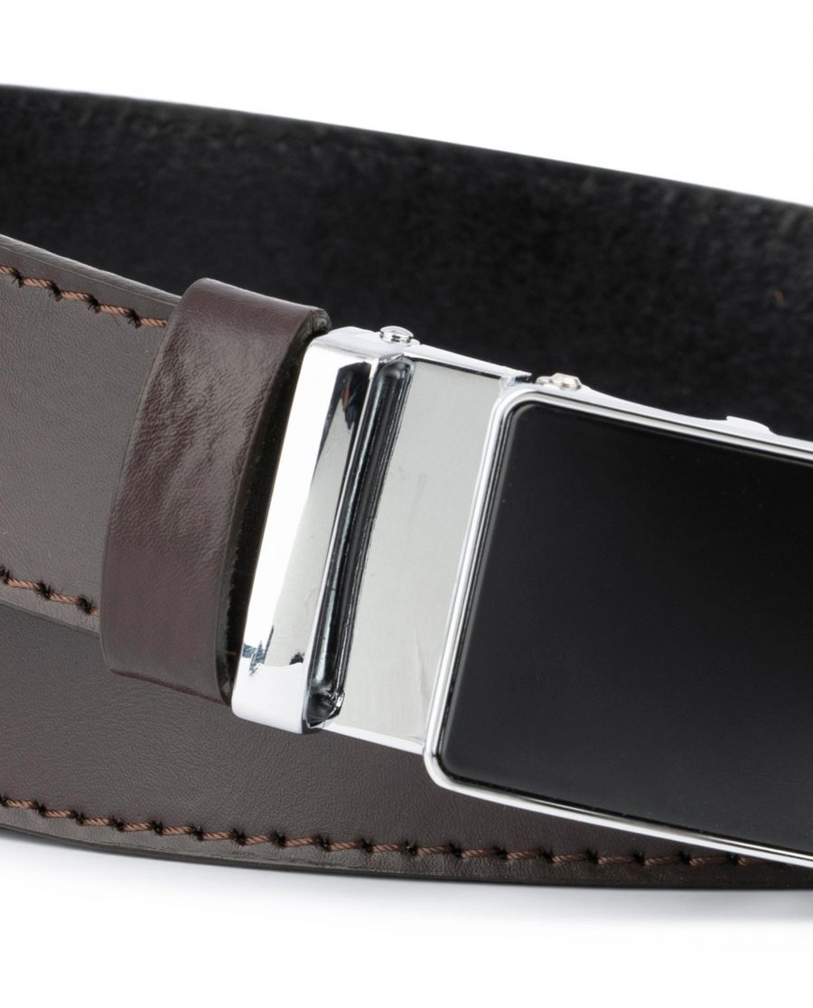 Brown Mens Belt Automatic Buckle 2