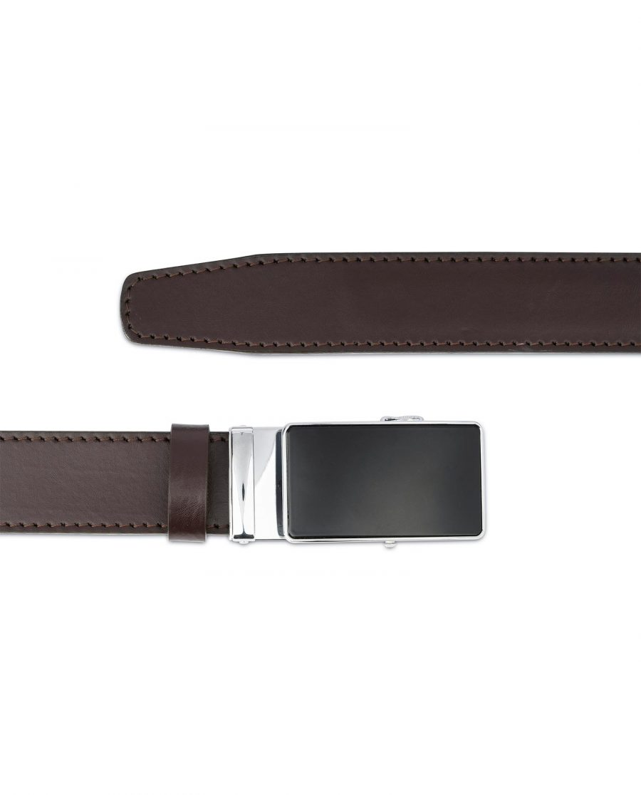 Brown Mens Belt Automatic Buckle 3