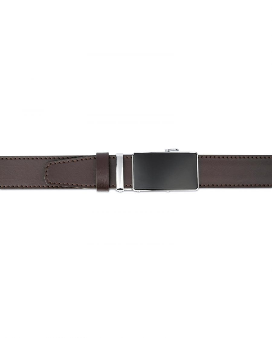 Brown Mens Belt Automatic Buckle 4