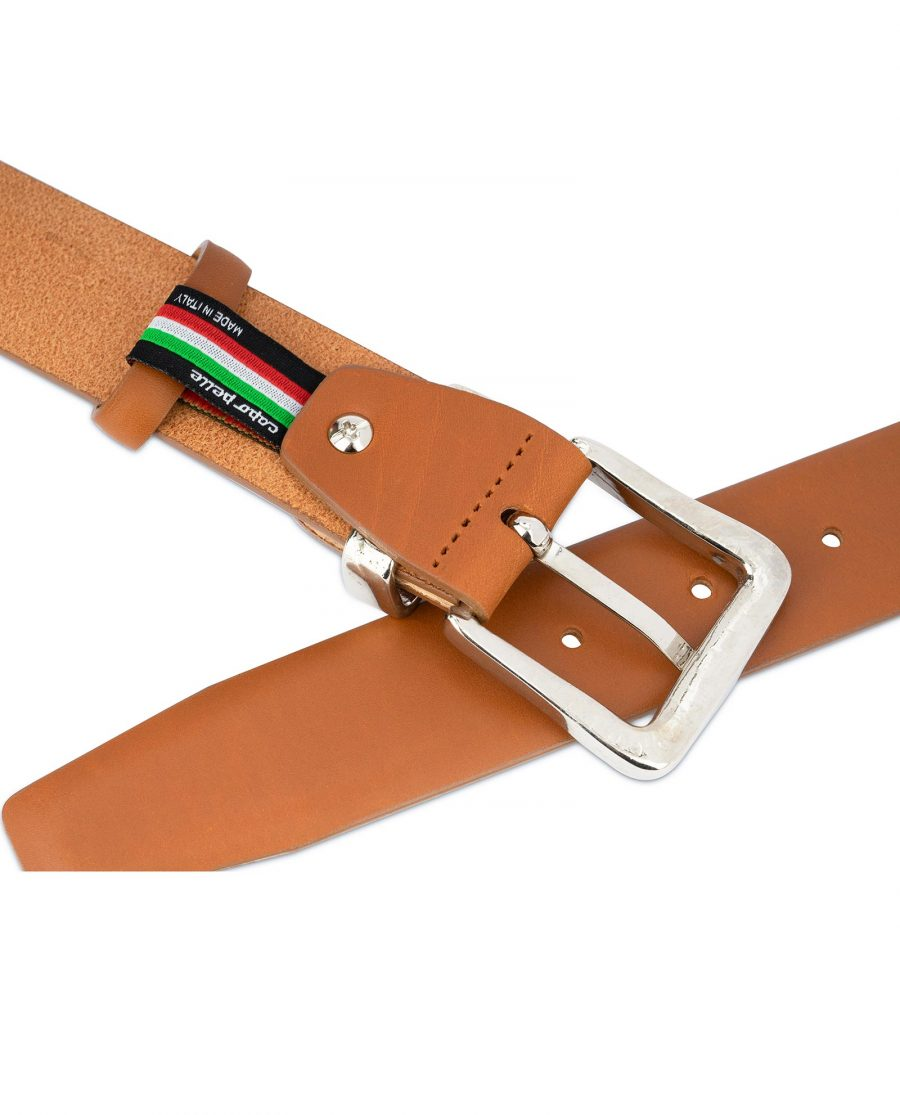 Brown Western Belt with Silver Buckle 4
