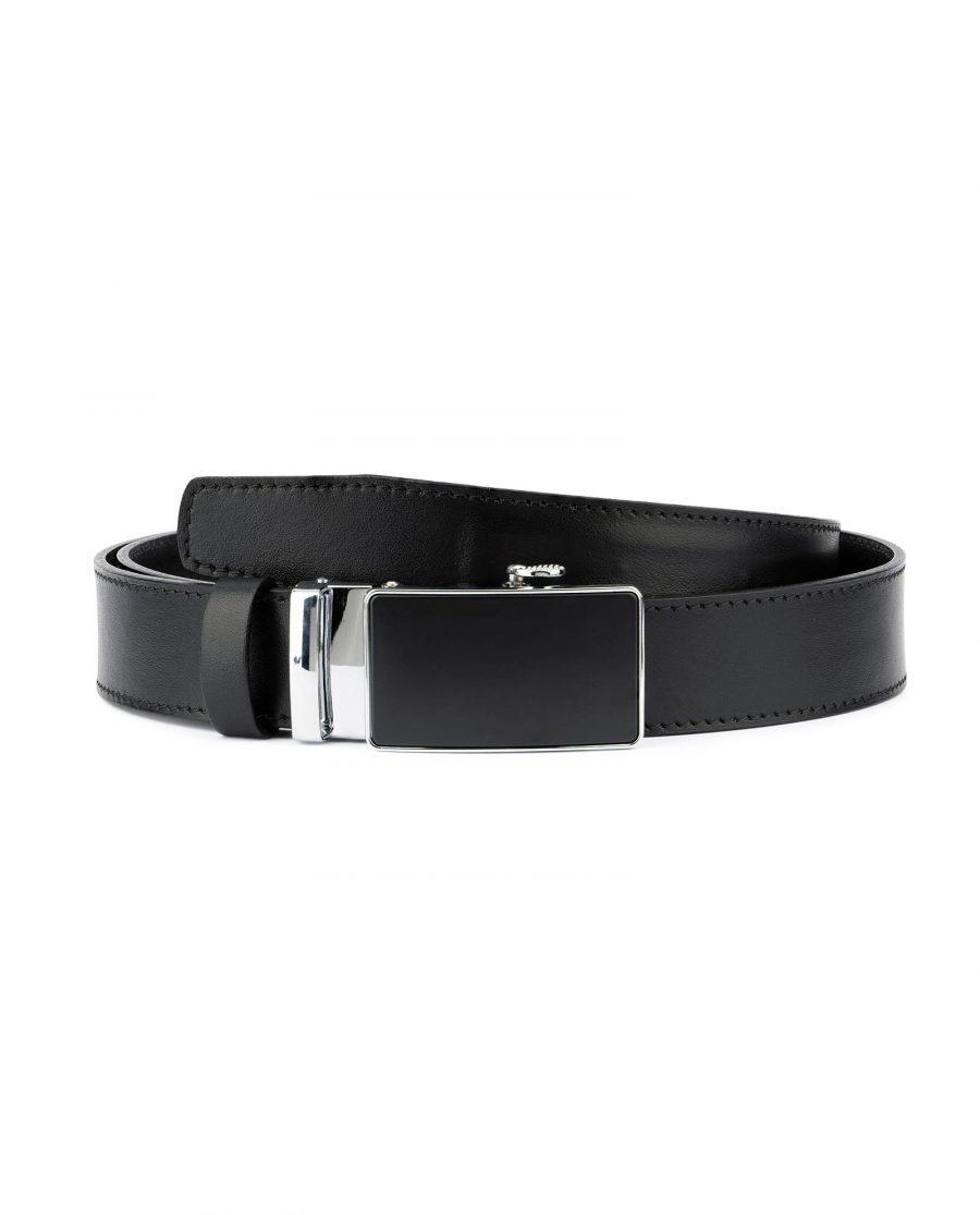 Comfort Click Belt for Men Black Leather 1