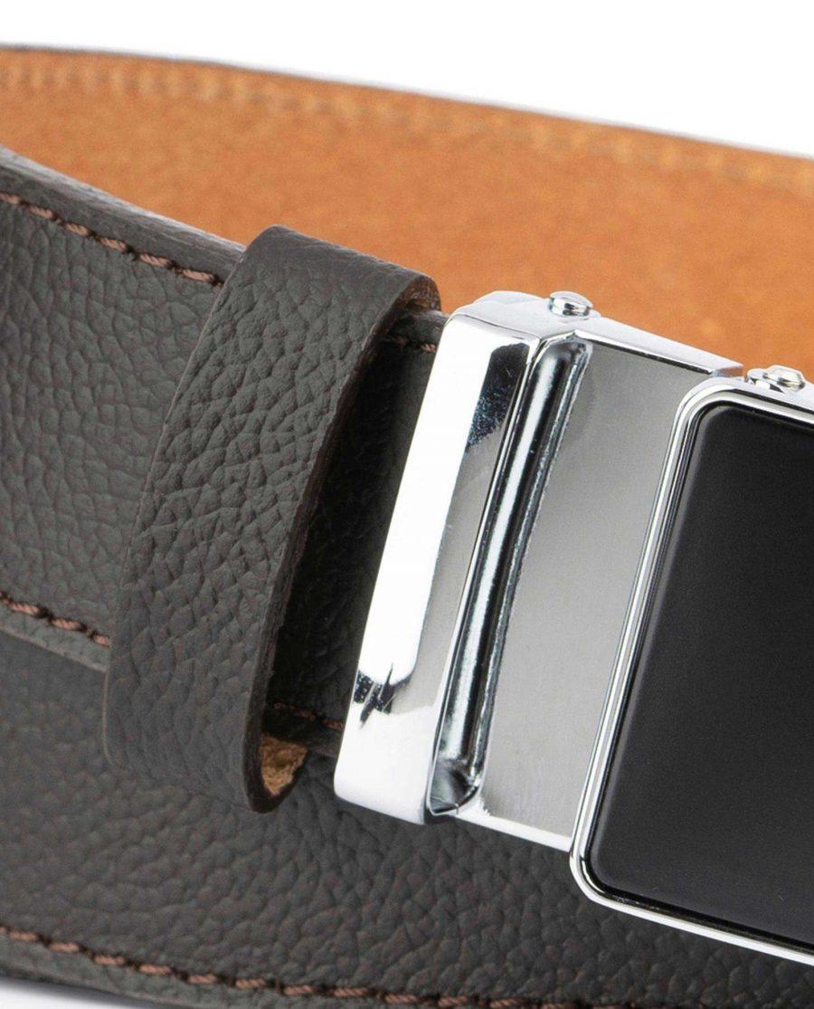 Comfort Click Belt for Men Brown Leather 2