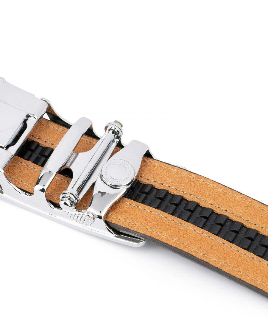 Comfort Click Belt for Men Brown Leather 6