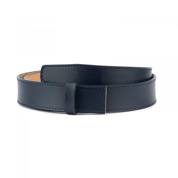 Dark Blue Leather Strap for Ratchet Belt 1