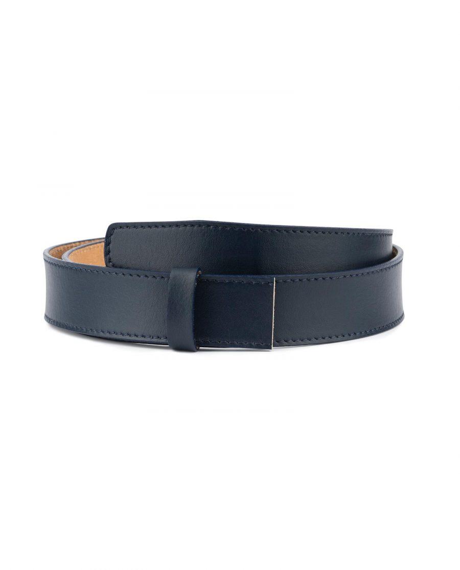 Dark Blue Leather Strap for Ratchet Belt 1