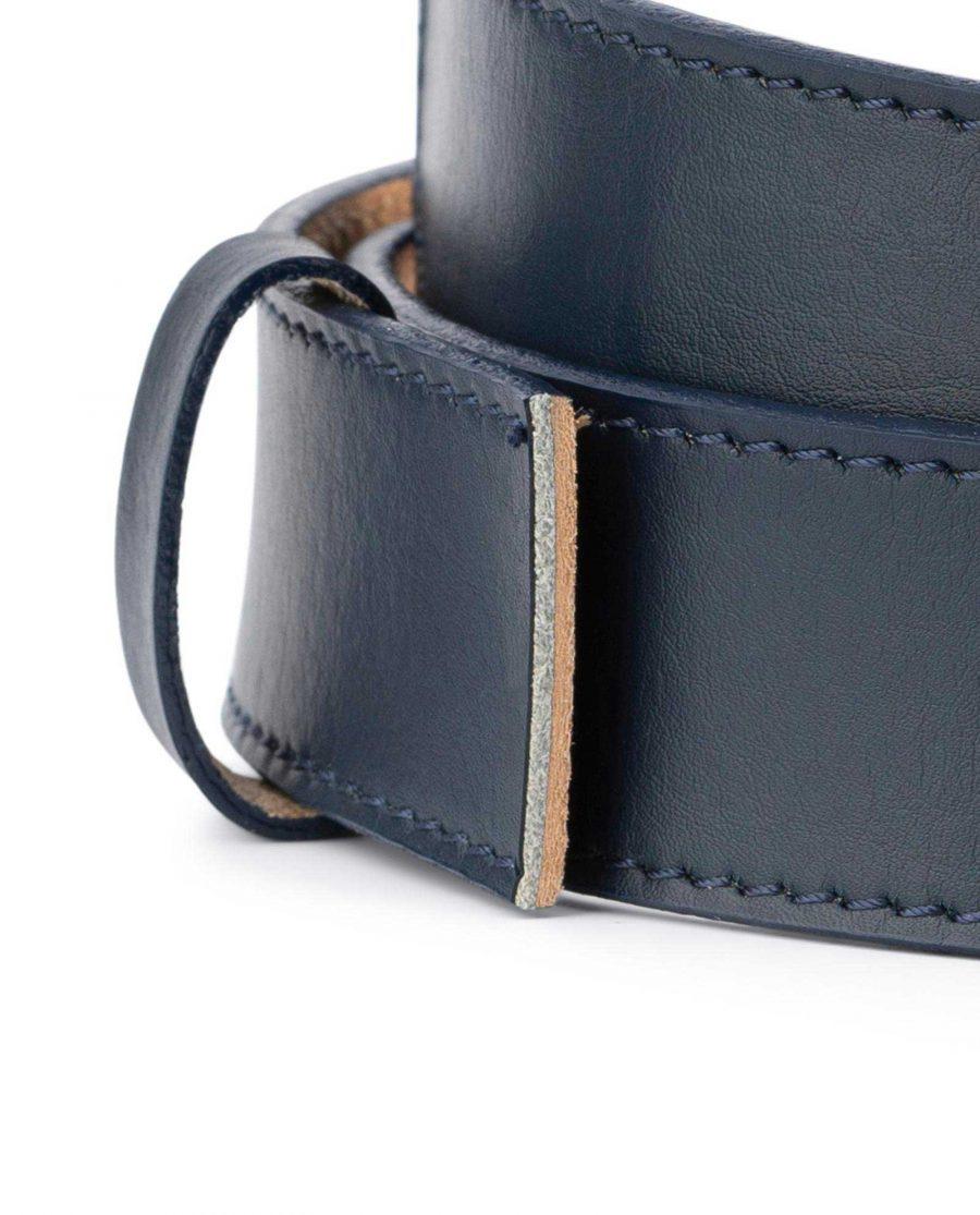 Dark Blue Leather Strap for Ratchet Belt 2
