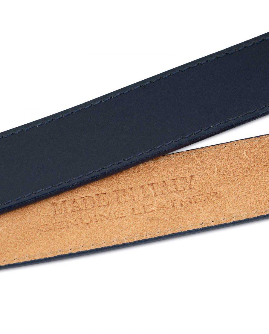 Dark Blue Leather Strap for Ratchet Belt 7