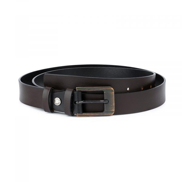Dark Brown Belt with Copper Buckle 1