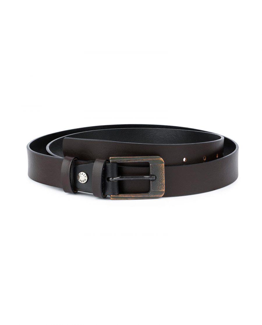 Dark Brown Belt with Copper Buckle 1