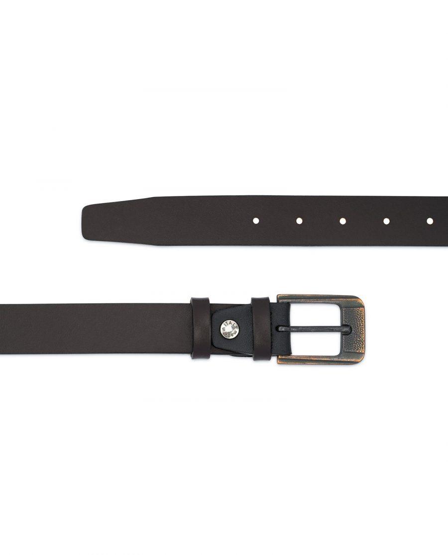 Dark Brown Belt with Copper Buckle 2
