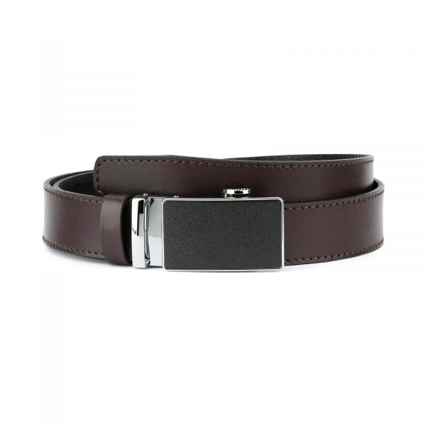 Dark Brown Comfort Click Belt for Men 1