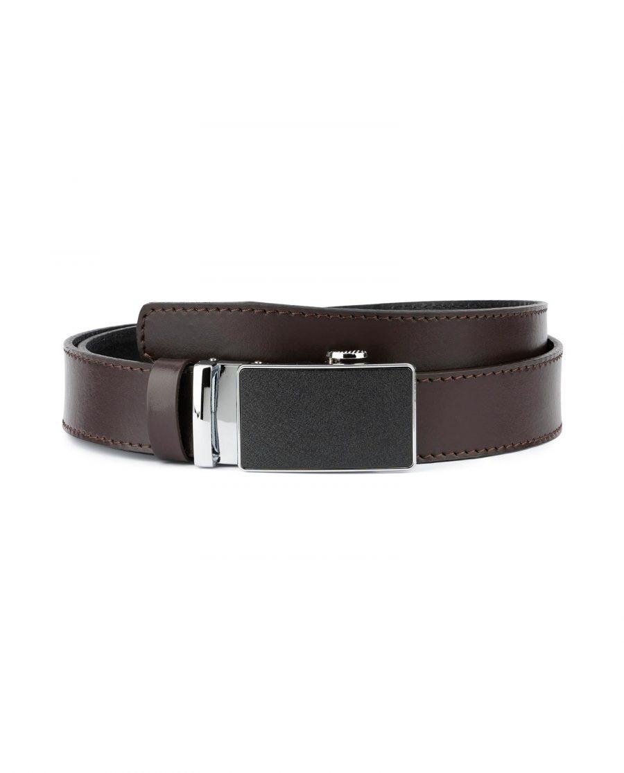 Dark Brown Comfort Click Belt for Men 1
